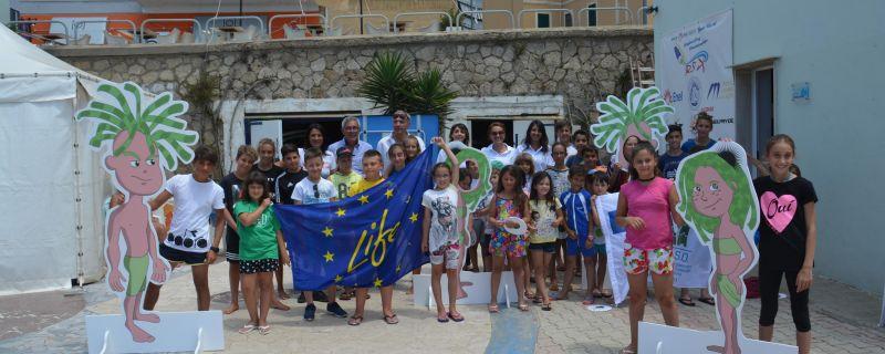 Life SEPOSSO with the schoolchildren of the summer course at the Italian Naval League – Civitavecchia (RM), Lazio