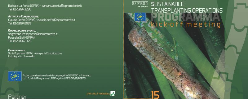 "Kick-Off meeting del Progetto LIFE SEPOSSO ""Supporting Environmental governance for the POSidonia oceanica Sustainable transplanting Operations"""