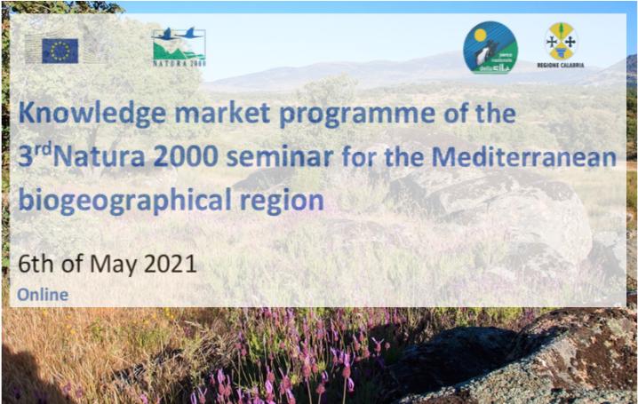 Knowledge Market: 3° seminario Natura 2000 per la regione Mediterranea